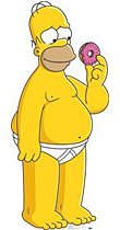 Homer with Donut