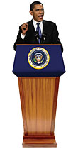 President Barrack Obama JR. Podium
